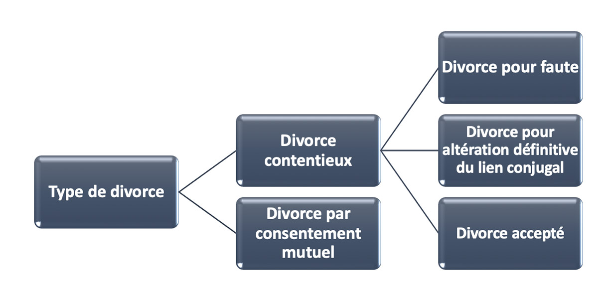 types de divorce en france